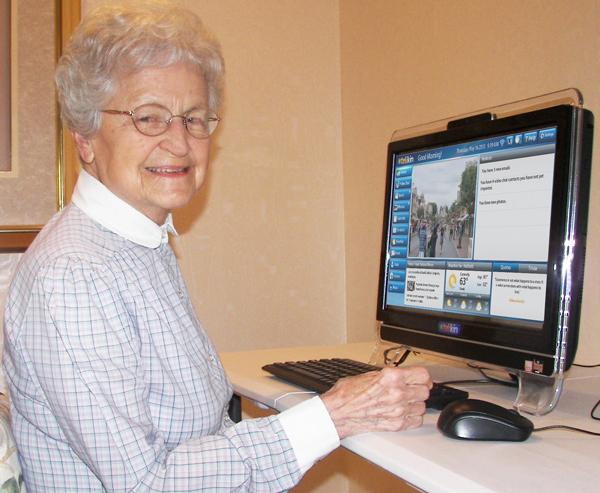 Senior Woman Smiling Telikin